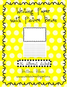 Custom paper writing picture boxes