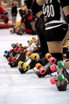 Roller Derby.. I'm wondering what types of wheels we are seeing..