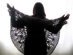 Visual guide to crochet circular vest omⒶ KOPPA: kukkaympyrä-VILLATAKKI