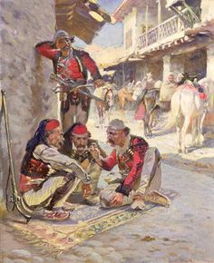 Dice Game, 1892 Fine Art Print by Waclaw Pawliszak Army History, Women In History, Ancient History, Arabic Characters, Albanian Culture, Medieval, Old Egypt, Call Art, Islamic Architecture