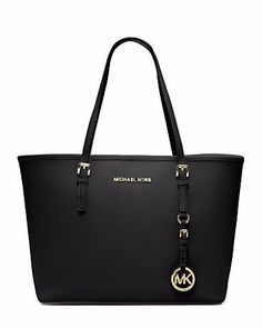 5994fd9986b37 MICHAEL KORS Jet Set Travel Saffiano Leather Medium Tote - WAY out of the  gift price
