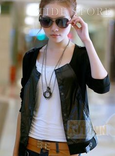 Shop Temperament Color Block Slim Round Neckline Coat on sale at Tidestore with trendy design and good price. Come and find more fashion Casual Jackets here. Blazers For Women, Cheap Jackets, Blazer Fashion, Affordable Clothes, Jackets Online, Cheap Dresses, Sunglasses Women, Neckline
