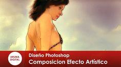 Photoshop 201 Composicion Efecto acuarela con desenfoque y trazo