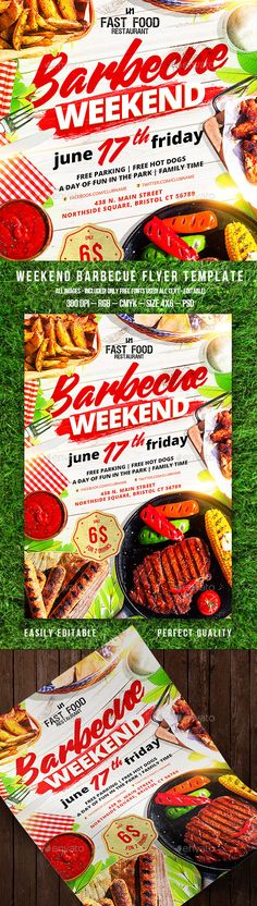 Barbecue Flyer Template PSD. Download here: http://graphicriver.net/item/barbecue-flyer/15658408?ref=ksioks