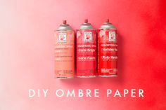 Ombre wrapping paper