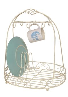 Washing & Hoping & Dreaming Dish Rack. Don't be content to dream of a more beautiful kitchen. #white #modcloth