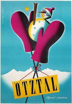 Vintage Ski Posters, Retro Poster, Vintage Advertisements, Vintage Ads, Fantastic Voyage, Retro Illustration, Vintage Winter, Estilo Retro, Vintage Travel Posters