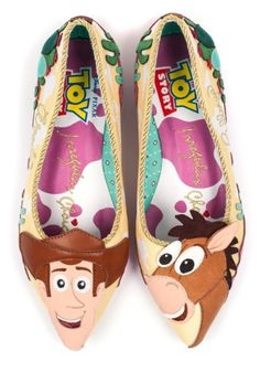 2216756e8a8 Toy Story Round Up Gang Woody and Bullseye Flats from Irregular  Choice Gang