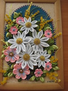 Ideas for handmade – Pano in the technique kanzashi pictures) Nylon Flowers, Cloth Flowers, Satin Flowers, Fabric Flowers, Quilling Flowers, Kanzashi Flowers, Quilling Art, Ribbon Art, Ribbon Crafts