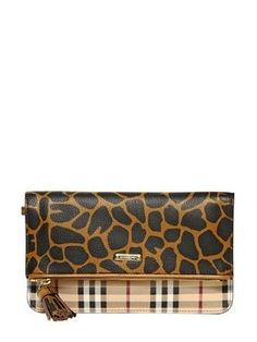 eae05b37fc3c Adeline Haymarket Animal Print Clutch on shopstyle.com Burberry Plaid