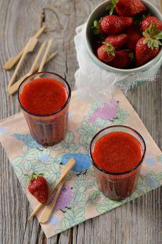 Soupe de fraise à la menthe {recette} - Tangerine Zest