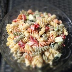 BEST pasta salad you will ever have!  and your kids might actually eat some veggies