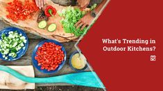 What's Trending in Outdoor Kitchens?: Outdoor kitchens have been popular for years. Not only do they give you an excuse to enjoy beautiful weather outdoors… Best Concrete Paint, Painting Concrete, Modern Outdoor Kitchen, Outdoor Kitchens, Outdoor Living, Closet Storage Systems, Driveway Repair, Types Of Pizza, Patio Plans