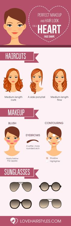 Sexy Haircuts for Heart Shaped Faces That You Will Truly Love Infographics❤️ There are a ton of cute haircuts for heart shaped faces to choose from. Girls with heart shaped faces are truly blessed. Check out these popular looks. Contour Makeup, Skin Makeup, Beauty Makeup, Hair Beauty, Makeup Tips, Makeup Geek, Hijab Makeup, Makeup Brushes, Makeup Emoji