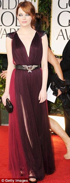 Emma Stone wears a Lanvin Dress
