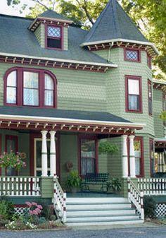 Olive Green Exterior House   Green Exterior House Photographs  Http://www.houzz.com/photos/exterior ...   Green Exterior House Colors    Pinterest   Exterior, ...