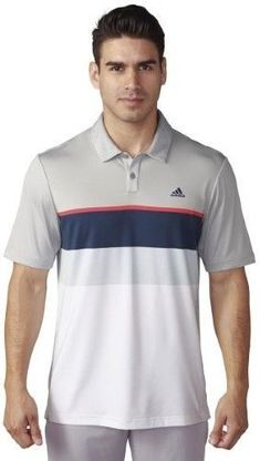 75f2d70eb5401 adidas 2016 Men s ClimaCool Engineered Striped Short Sleeve Polo Shirt  (Stone Shock Red