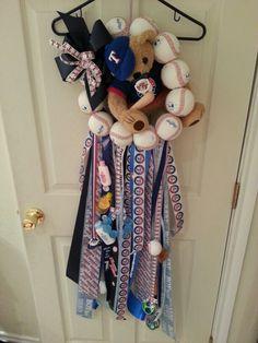 Texas Rangers door mum...ready for little Austin