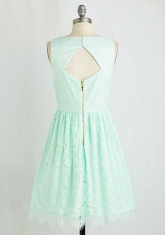Roll in with the Punch Dress in Mint. Start the party right with a batch of your secret-recipe punch - and a splash of flirty style from this lace dress! #mint #prom #wedding #bridesmaid #modcloth