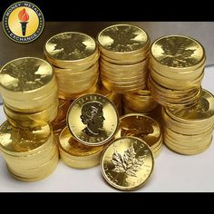 We're ready to bring in the New Year with these brand new 2017 Canadian Maple Le.- We're ready to bring in the New Year with these brand new 2017 Canadian Maple Leaf coins! Have a safe New Years Eve. Maple Leaf Gold, Gold Bullion Bars, Money Stacks, Coins Worth Money, Gold Money, Coin Worth, Gold For Sale, Coin Collecting, How To Get Money