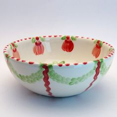 werhart Serving Bowls, Tableware, Red, Green, Tablewares, Dinnerware, Dishes, Place Settings, Mixing Bowls