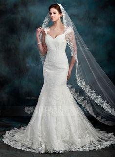 Trompete/Sereia Coração Cauda longa Cetim Tule Vestido de noiva com Renda Bordado (002000630)http://www.jjshouse.com/pt/Trompete-Sereia-Coracao-Cauda-Longa-Cetim-Tule-Vestido-De-Noiva-Com-Renda-Bordado-002000630-g630