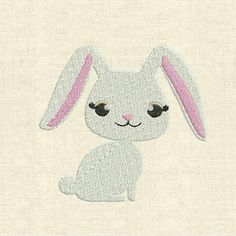 Machine embroidery design cute animals bunny