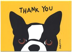 Boston Terrier Thank You Cards