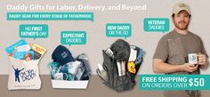 @Meredith Kesler   Expectant Fathers Gifts   Daddy Gift Ideas for Dad To Be   New Dad Gifts   Present For New Dad   Father Gifts   Daddy T-Shirts   Daddy Scrubs