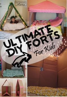 Ultimate DIY Forts: Kid Approved! I decided to let my kiddos decide which fort they wanted to make - we had a blast! Then dad got involved, used some inspiration from this post and knocked it out of the park!!
