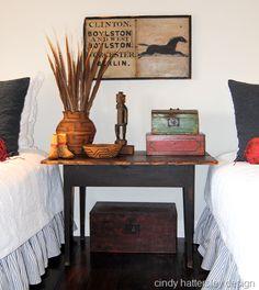 Cindy Hattersley's guest room.  Delightful!