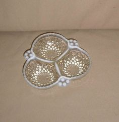Vintage Anchor Hocking Opalescent Moonstone Hobnail 3-Section Nut, Relish Dish by Incredibletreasures on Etsy