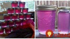 Ak máte v záhrade veľa levandule, vyskúšajte zázračný levanduľový džem: Stačí 1 lyžička a bolesť brucha je preč! Home Canning, Preserves, Pickles, Korn, Mason Jars, Food And Drink, Homemade, Drinks, Smoothie
