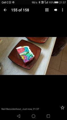 Colours cake inside