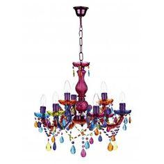 Dar SOU1355 Souk 9 Light Multi Colour Chandelier
