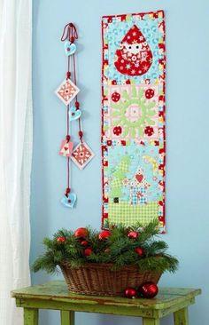 Festive wall quilt