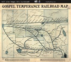 #Gospel temperance #railroad #map (1908) —   http://www.bigmapblog.com/2011/gospel-temperance-railroad-map-1908/