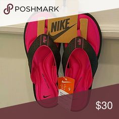"Nike Comfort Flip Flop Brand new beautiful Nike thong flip flops. Walk in style and ""Comfort""!!! Nike Shoes Sandals"