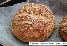 Whole grain hamburgerbuci Healthy Baking, Healthy Recipes, How To Make Bread, Bread Baking, Hamburger, Bakery, Paleo, Food And Drink, Low Carb
