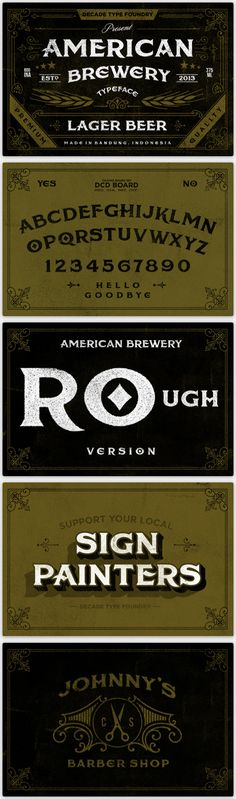 American Brewery Font by Decade Type Foundry