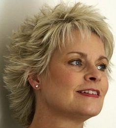 Short spikey hairstyles for older women