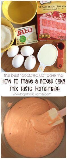 "HOW TO MAKE A BOXED CAKE MIX TASTE HANDMADE {""doctored up"" cake mix} | www.togetherasfamily.com"