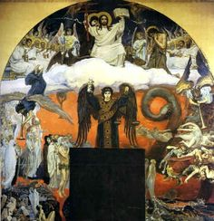 Judgement Day Cathedral of St. Vladimir in Kiev. Fresco