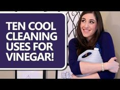 """10 Brilliant Ways To Clean With Vinegar If you can't stand the smell of vinegar, try and plug your nose and watch this video. The people at """"Clean My Space"""" have put together a video on some of the most creative ways to use vinegar that will make you ques Household Cleaning Tips, Steam Cleaning, House Cleaning Tips, Diy Cleaning Products, Cleaning Solutions, Spring Cleaning, Cleaning Hacks, Car Cleaning, Household Products"""