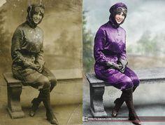 Colorizando: Harriet Quimby - A Primeira Dama do Ar da América - Colorização