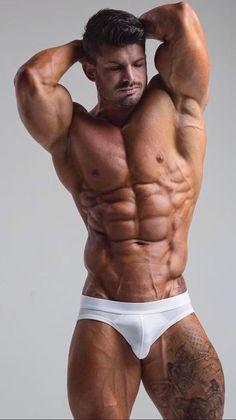 Undies muscled guy suck