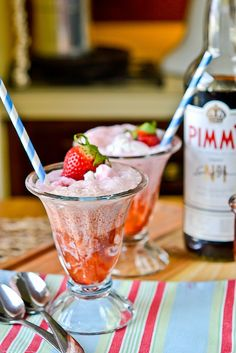 Pimm & Proper Ice Cream Floats
