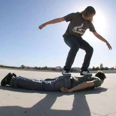 Human Skateboard (Stop Motion Animation)