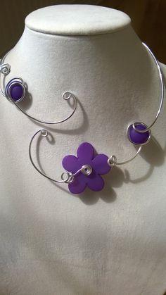 Purple Purple necklace Purple jewelry Alu by LesBijouxLibellule Bridesmaid Statement Necklace, Purple Necklace, Purple Jewelry, Wire Necklace, Wire Wrapped Necklace, Collar Necklace, Prom Jewelry, Bridesmaid Jewelry, Wire Jewelry
