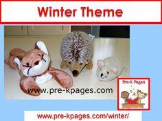Winter theme ideas for your preschool, pre-k, or kindergarten classroom.